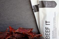 Paleo Rezepte und Beef It Jerky Protein Snacks, Paleo Beef Jerky, To Go, Paleo On The Go, Rind, Paleo Recipes, No Sugar, Glutenfree, Weight Loss