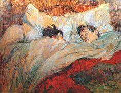 In bed - Henry De Toulouse-Lautrec