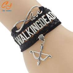 The Walking Dead Bracelet - Multi-Color Leather Braided Velvet Bracelet With Bow Charm The Walker Store    https://thewalkerstore.com/multi-color-leather-braided-velvet-bracelet-with-bow-charm/