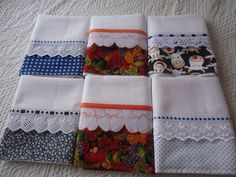 pano de prato - Pesquisa Google                                                                                                                                                                                 Mais Dish Towels, Hand Towels, Tea Towels, Puffy Quilt, Sewing Crafts, Sewing Projects, Baby Quilt Patterns, Hot Pads, Kitchen Towels