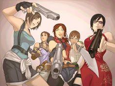 Resident Evil x Black Lagoon crossover Resident Evil Anime, Resident Evil Girl, Moira Burton, Evil Art, Pokemon, Jill Valentine, Fanart, Black Lagoon, Dark Souls