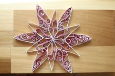Red and White Quilling Star by QuintQuilling on Etsy