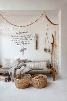 Atelier Sukha presents Walnut chains and white fabric garlands! Vosgesparis: Atelier Sukha presents Room Inspiration, Interior Inspiration, Interior Ideas, Room Interior, Home And Living, Living Room, Deco Boheme, Autumn Cozy, Home And Deco