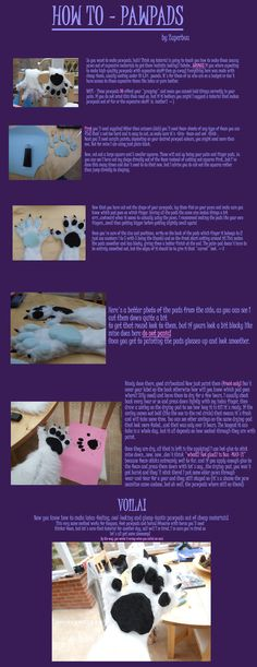 Pawpads tutorial (just the pads, not the paws themselves)
