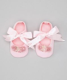 Take a look at this Pink Satin Stella Shoes by Truffles Ruffles on #zulily today!