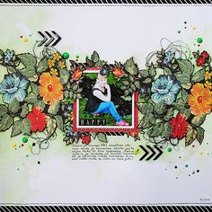 Happy | scrapbooking layout by Anski