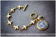 Sideways Cross Bracelet  Religious Bracelet  by AngelaVenArtwork