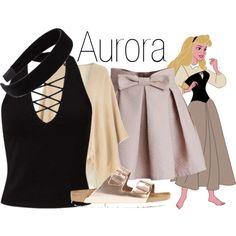 Aurora~ DisneyBound by basic-disney on Polyvore featuring мода, Miss Selfridge, Dorothy Perkins, Chicwish, Birkenstock and L. Erickson