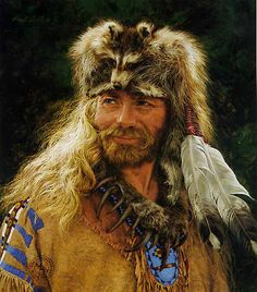 """painted by Paul Calle - disregard the clothing and """"hat"""" and look at that face....so realistic!!  It's as almost he's going to wink at you!!"""