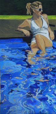 Saatchi Online Artist Leslie Graff; Painting, in the pool #art