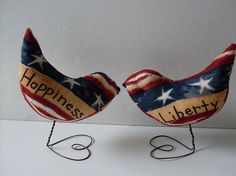 Stars & Stripes Americana Love Birds Cake by BeaconHillCollect, $49.95