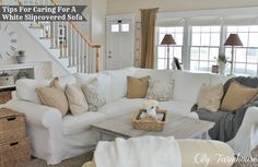 Real Life With A White Slipcover & Keeping It Pretty - City Farmhouse