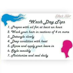 Wash day tips for hair