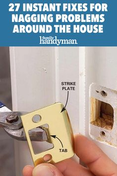 27 Instant Fixes For Nagging Problems Around the House Simple Life Hacks, Useful Life Hacks, Home Improvement Projects, Home Projects, Home Maintenance Checklist, Handyman Projects, Home Fix, Diy Home Repair, Up House