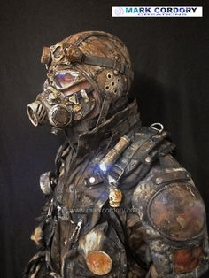 LARP Post Apocalypse Airsoft costume - additional ageing. Costume by Mark Cordory Creations www.markcordory.com