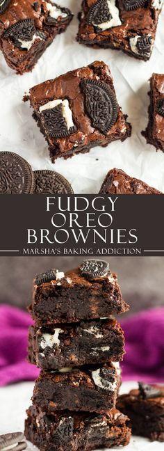 Fudgy Oreo Brownies | marshasbakingaddiction.com @marshasbakeblog