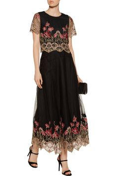 Shop on-sale Marchesa Notte Embroidered tulle top and maxi skirt set. Browse other discount designer Dresses & more on The Most Fashionable Fashion Outlet, THE OUTNET.COM