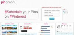 Pingraphy es un servicio web que te ayuda a programar pins en Pinterest