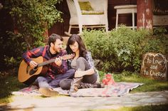 aww! we have to remember to bring Thomas's guitar to our engagement photos. I loooove when he plays.
