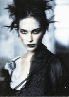 """Erin Wasson in """"Pale Shades"""" by Paolo Roversi for Vogue Italia March Black lipstick, black and white witchy style. Paolo Roversi, Editorial Photography, Portrait Photography, Fashion Photography, Glamour Photography, Underwater Photography, Lifestyle Photography, Photografy Art, Tim Walker"""