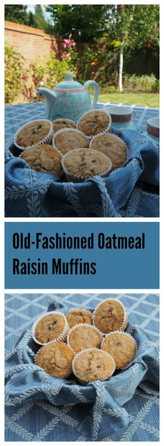 Old Fashioned Oatmeal Raisin Muffins