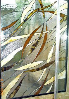 stained glass tiles door