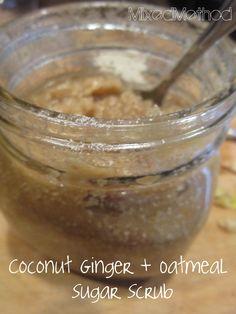 Coconut Ginger + Oatmeal Sugar Scrub. Jislaine ♥ to inspire you! http://www.jislaine.de