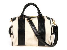 Z Spoke by Zac Posen Canvas and Patent Satchel