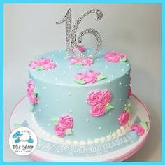 Pretty and delicate Alice in Wonderland rosette inspired buttercream party cake! You select the color and the flavor - we...