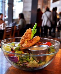 """Southern Fried """"Chicken"""" Salad  Founding Farmers by Founding Farmers / The Farm, via Flickr"""