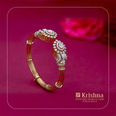 Check out some amazing designer diamond bangle designs from 3 most popular brands namely Krishna Jewellers, Maubhai and Talwar Jewellers. Wedding Jewelry, Gold Jewelry, Fine Jewelry, Dainty Jewelry, Pandora Jewelry, Jewelery, Wedding Rings, Diamond Bracelets, Sterling Silver Bracelets