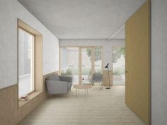 Visualisering - Christiansfelderhuset stueetage