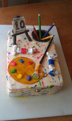 artist party cake ideas | Art Cake Ideas Cake for an artist