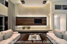 Construindo Minha Casa Clean: Home Theater! 20 Projetos de Salas de TV Modernas!!!