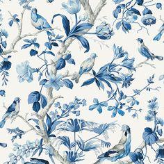 Fabric Patterns Belize Porcelain by Scalamandre - Chinoiserie Wallpaper, Of Wallpaper, Designer Wallpaper, Cottage Wallpaper, Wallpaper Stores, Wallpaper Samples, Textile Design, Fabric Design, Pattern Design