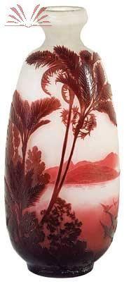 Tipo : Esculturas/Objetos  Paisagem tropical  Artista Émile Gallé Ano 1920