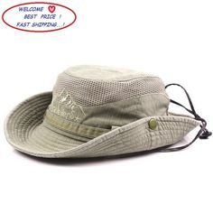 807e9b7e7d9 Mens Summer Cotton Embroidery Visor Bucket Hats Fisherman Hat Outdoor  Climbing Mesh Sunshade Cap is hot sale on Newchic.
