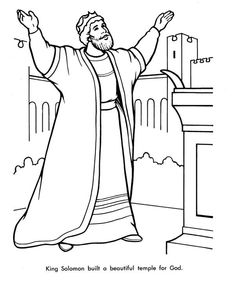 This is a photo of Lively solomon's temple coloring page