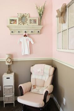 Baby pink, shabby chic nursery