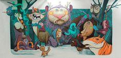 Street art work 'Insomniac walls' by Dulk