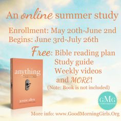 Online summer Bible study