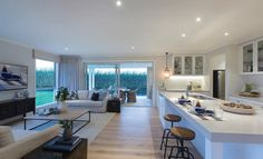 Stylish Ways to Decorate open concept kitchen and family room on this favorite site Open Plan Kitchen Living Room, Kitchen Dining Living, Kitchen Family Rooms, Open Plan Living, Casa Loft, Interior Styling, Interior Design, Open Concept Kitchen, New Home Designs