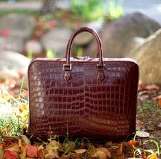 Fashion Alligator Bag and Luxury Alligator Briefcase for Men Briefcase For Men, Briefcases, Laptop Bags, Louis Vuitton Speedy Bag, Crocodile, Handbags, Luxury, Leather, Accessories