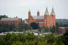 St. Vincent Basilica is seen on the campus of St. Vincent College in Latrobe, Pa - A Benedictine Abbey.