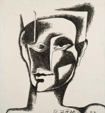 Ossip Zadkine, Tete d'homme, 1957