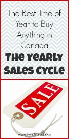 Best Time of Year to Buy Anything in Canada: The Yearly Sales Cycle The Best time of year to buy anything in Canada. (The yearly sales cycle!)The Best time of year to buy anything in Canada. (The yearly sales cycle! Ways To Save Money, Money Tips, Money Saving Tips, Saving Ideas, Frugal Tips, Money Matters, Finance Tips, Money Management, Shopping Hacks