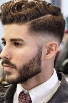 Top 50 Men's Short Hairstyles - Best Short Haircuts for Men in 2020 Comb Over Haircut, Haircut For Thick Hair, Short Curly Hair, Fade Haircut, Short Hair Cuts, Haircut Men, Haircut Short, Wavy Hair, Mens Modern Hairstyles
