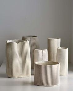 Slab Pottery, Pottery Vase, Ceramic Pottery, Thrown Pottery, Ceramic Decor, Parametrisches Design, Keramik Design, Keramik Vase, Paperclay