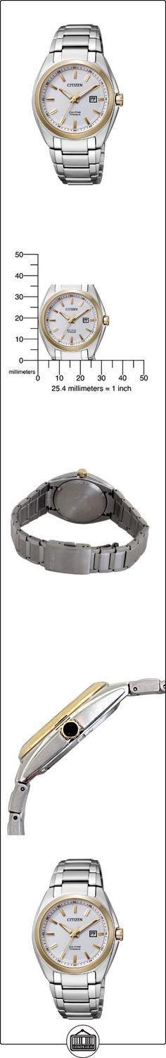 Citizen Super Titanium EW2214-52A - Reloj analógico de cuarzo para mujer, correa de titanio color plateado  ✿ Relojes para mujer - (Gama media/alta) ✿