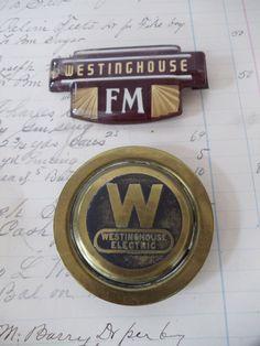 TWO Vintage WESTINGHOUSE Nameplate by UrbanRenewalDesigns on Etsy, $13.50